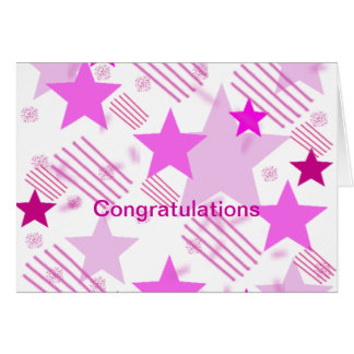 Pink Stars and Stripes Happily Divorced Card