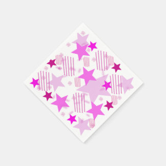 Pink Stars and Stripes Napkins Disposable Napkin