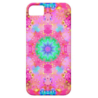 Pink Stars & Bubbles Fractal Pattern Case For The iPhone 5