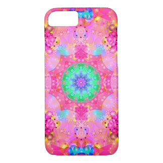 Pink Stars & Bubbles Fractal Pattern iPhone 7 Case