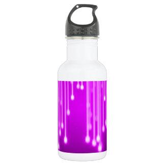Pink stars falling 532 ml water bottle