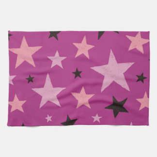 Pink Stars Pattern 2 Kitchen Towel