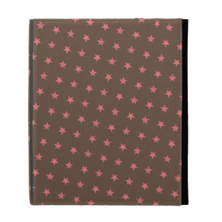 Pink Stars Pattern iPad Folio Covers