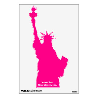 Pink Statue of Liberty 4Tiara Wall Sticker