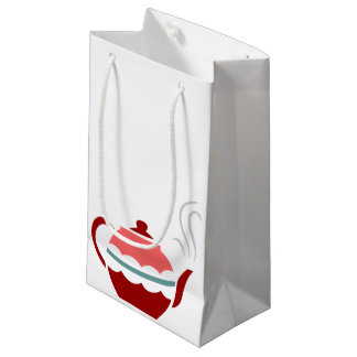 Pink Steaming Teapot Small Gift Bag
