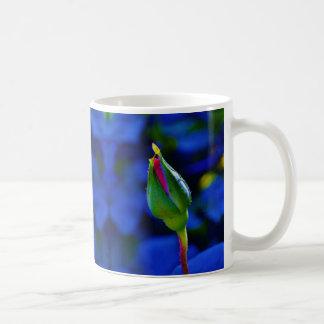 Pink Stemmed Rosebud Coffee Mug