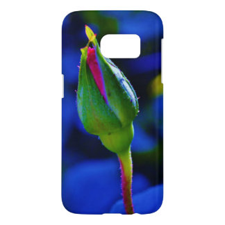 Pink Stemmed Rosebud Samsung Galaxy S7 Case