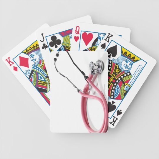 Pink Stethoscope Bicycle Playing Cards