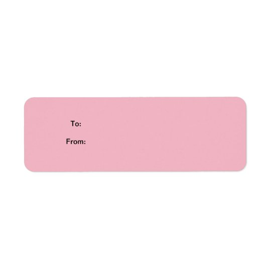 Pink Sticker Gift Tag