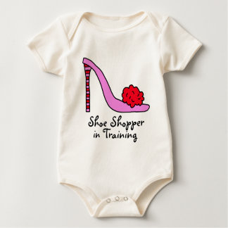Pink Stiletto High Heel Shoe Baby Bodysuit