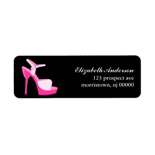 Pink Stiletto Return Address Label