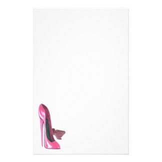 Pink Stiletto Shoes Art Customized Stationery