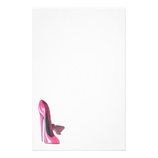 Pink Stiletto Shoes Art Stationery