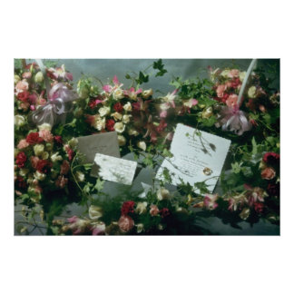 Pink Still life flowers Poster