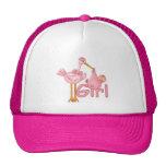 Pink Stork Baby Girl Mesh Hat