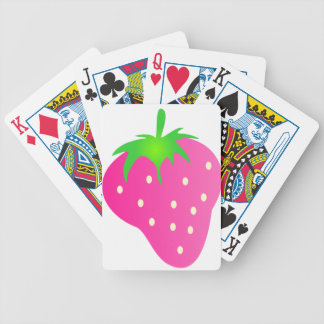 Pink Strawberry Bright and Cheerful Bicycle Playing Cards