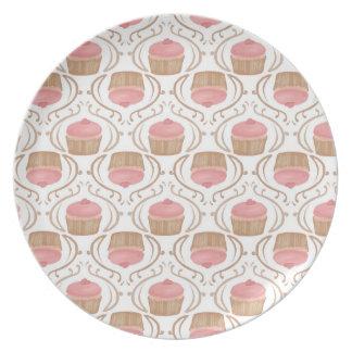 Pink Strawberry Champagne Cupcake Plate