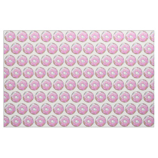 Pink Strawberry Donut Fabric