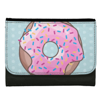 Pink Strawberry Donut Wallet For Women