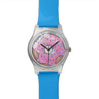 Pink Strawberry Donut Watch