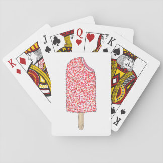 Pink Strawberry Eclair Ice Cream Popsicle Cards