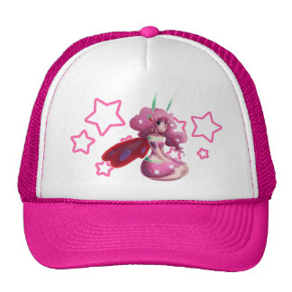 Pink Strawberry Fairy Trucker Hat
