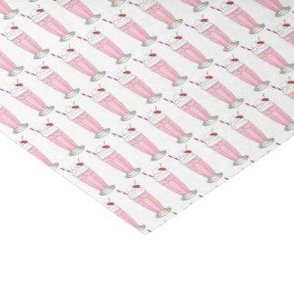Pink Strawberry Ice Cream Shake Milkshake Dessert Tissue Paper