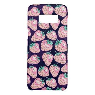 Pink Strawberry pattern on purple background Case-Mate Samsung Galaxy S8 Case