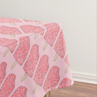 Pink Strawberry Shortcake Ice Cream Popsicle Lolly Tablecloth
