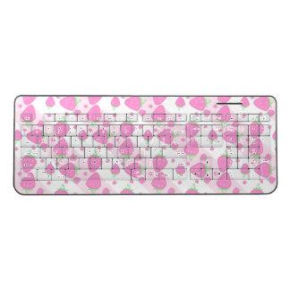 Pink strawberry wireless keyboard