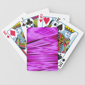 Pink streaked lines pattern bicycle playing cards