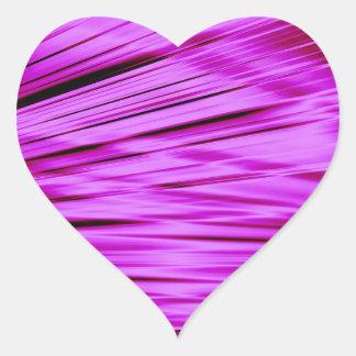 Pink streaked lines pattern heart sticker