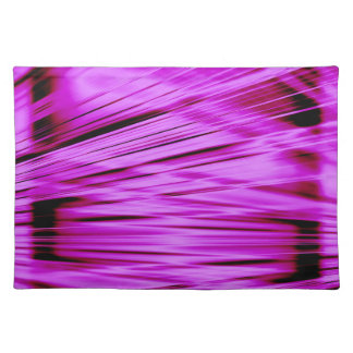 Pink streaked lines pattern placemat