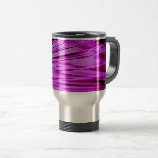 Pink streaked lines pattern travel mug