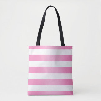 Pink Stripe Fade Tote Bag