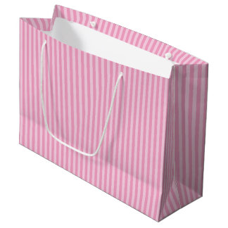 Pink stripe pattern large gift bag