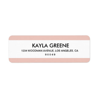 Pink Stripe Return Address Labels