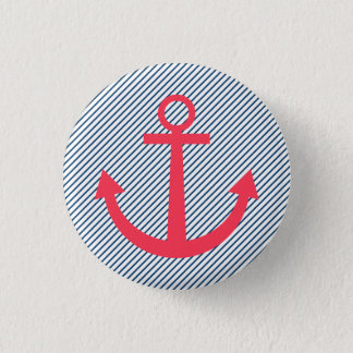 Pink striped anchor button