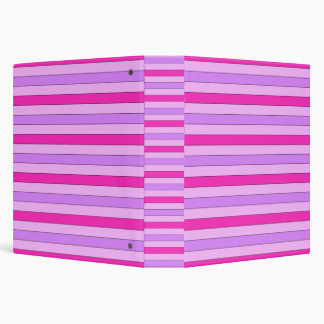 Pink Striped Design Binder