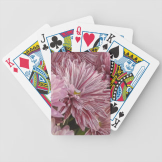 Pink striped flower bicycle playing cards