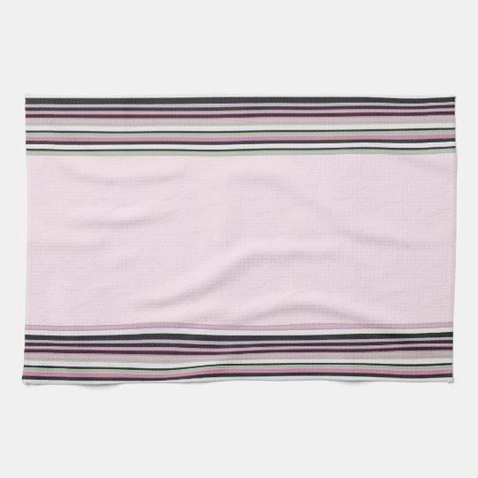 Pink Striped Kitchen Towel