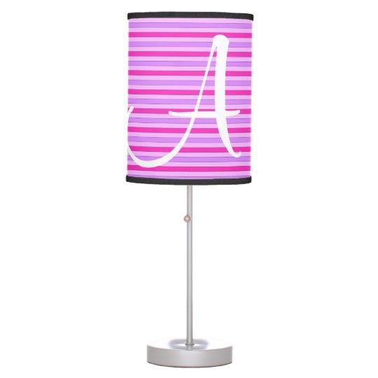 Pink Striped Lamp