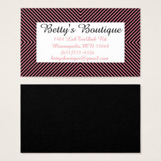 Pink Striped Pattern Business Card