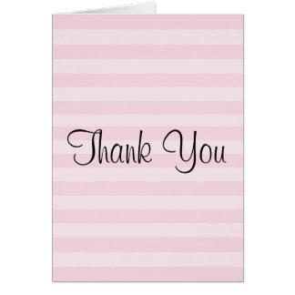 Pink Striped Pattern Card
