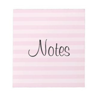 Pink Striped Pattern Notepads