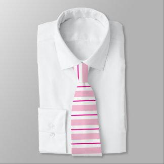 Pink Striped Valentines Tie
