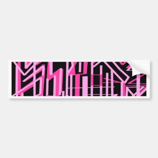 Pink stripes and lines design bumper sticker