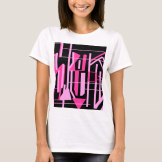 Pink stripes and lines design T-Shirt