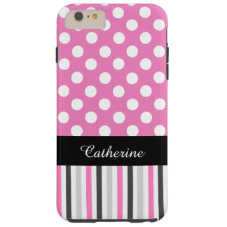 Pink Stripes and Polka Dot iPhone 6 Plus case