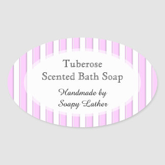 Pink Stripes Custom Soap or Recipe Sticker